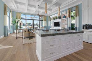 open floor plan home remodel