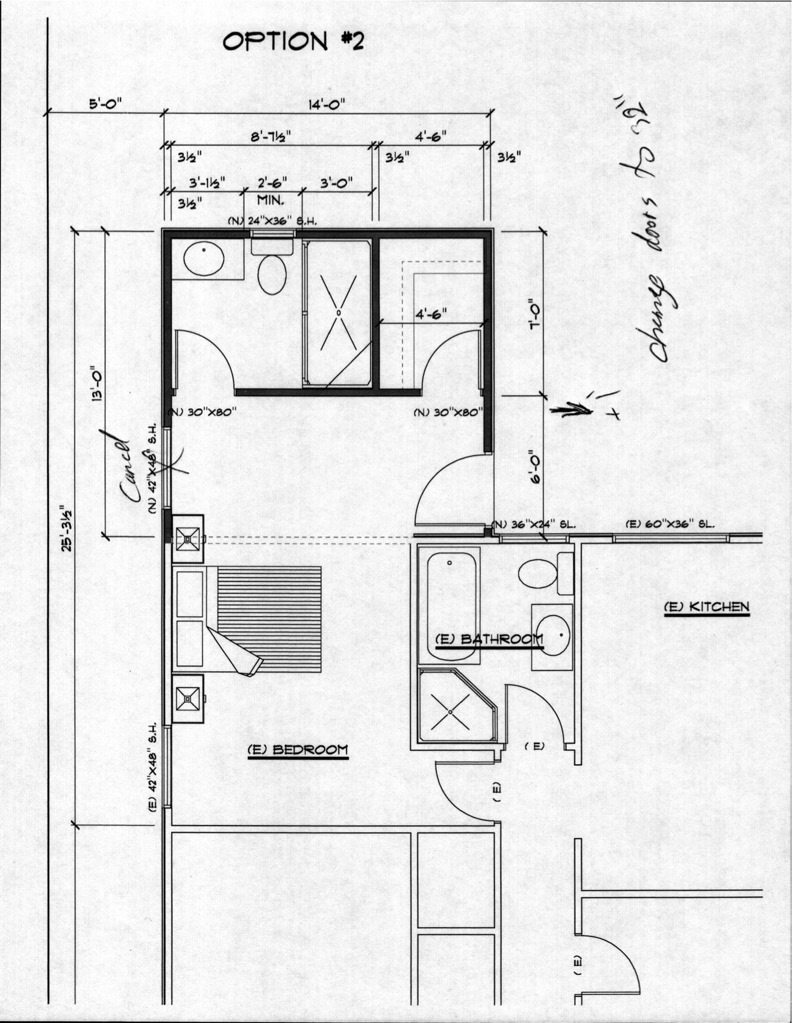 Bedroom and bath floor plan