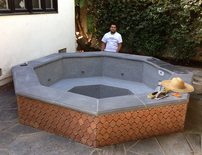 custom built hot tub west la eden builders. Black Bedroom Furniture Sets. Home Design Ideas