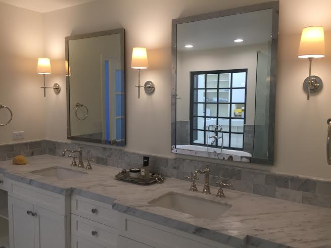 Freestanding tub master bathroom pacific palisades eden for High end master bathrooms