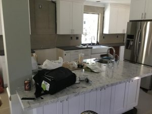 marble Counter top installed on island