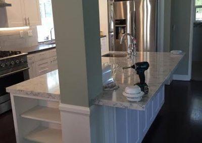 open shelving kitchen island