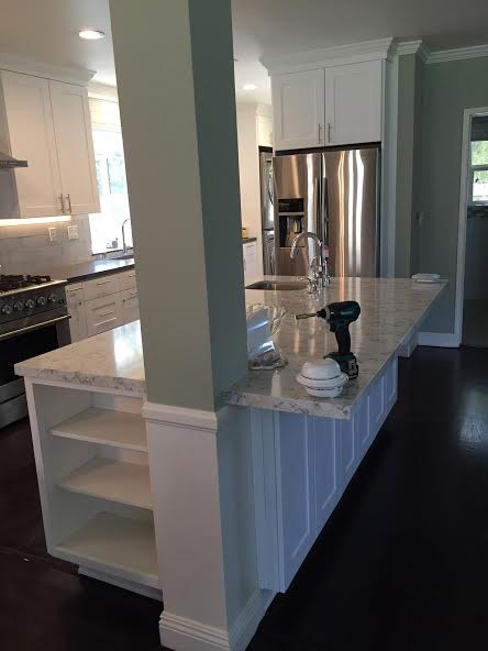 Open Kitchen Support Post Eden Builders