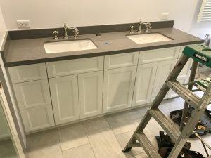 double vanities in a new bathroom