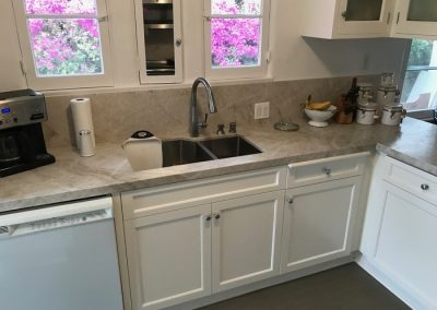 double sink custom cabinets