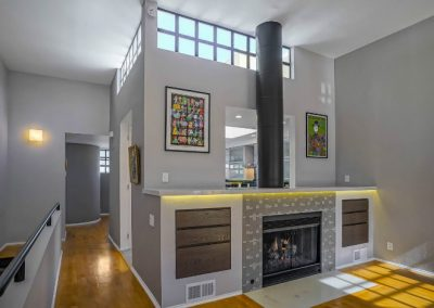 santa-monica-fireplace-cutout-angle-hallway