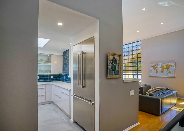 santa-monica-kitchen-condo-remodel-refridgerator-fridge-double-pull-out-open