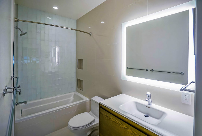 Condo bathroom remodeled in santa monica by eden builders for The bathroom builders