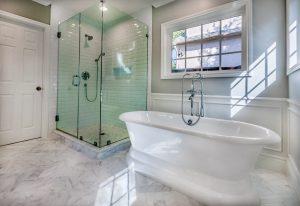 marble floor bathroom remodel