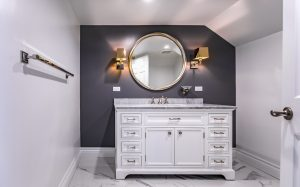 chic and glam bathroom