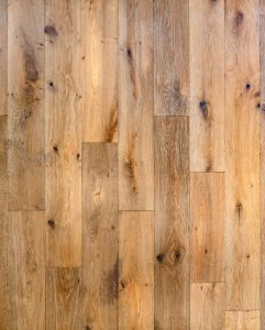 distressed flooring in new build