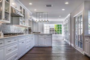long large narrow kitchen - high end in Tarzana, California