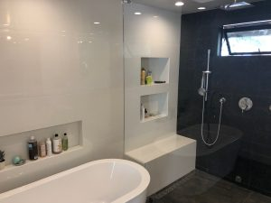 Free Standing tub and walk-in steam shower