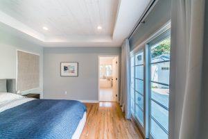 Master bedroom with patio doors