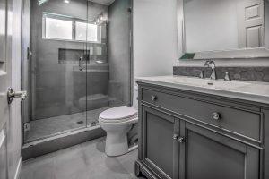bathtub converted to walk in shower