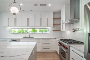 Kitchen renovation in West Hollywood - all white open plan