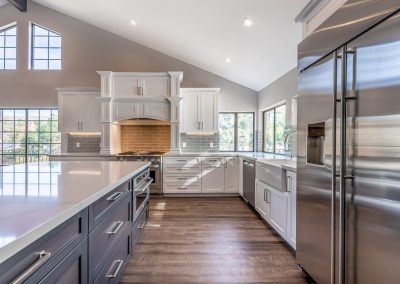 White & Grey Kitchen Remodel Thousand Oaks